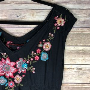 JW Johnny Was Los Angeles Embroidered Floral Dress